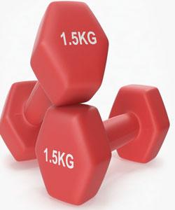 دمبل بانوان 1.5 کیلوئی